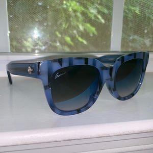 GUCCI Striped Cat Eye Sunglasses